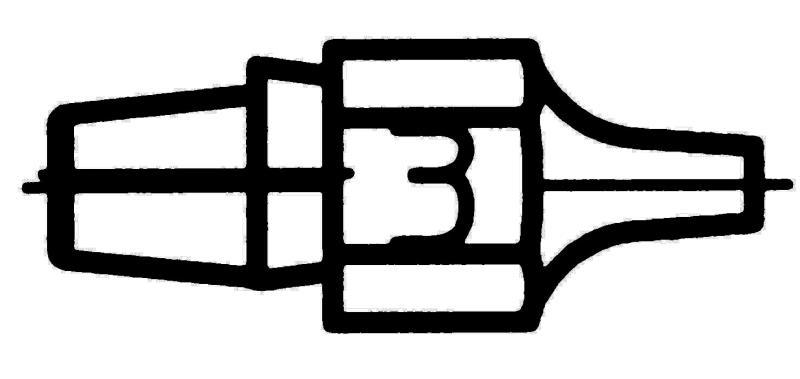 Weller 005 13 143 10 DX113 desoldering nozzle