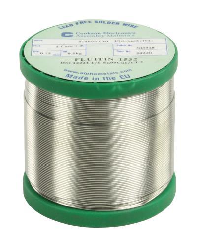 TIND-WM 500NPB Loodvrije soldeertin 0,75mm 500 g