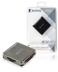 König CSU3ACR100BL Alles-in-een geheugenkaartlezer USB 3.0