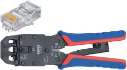Knipex 97 51 12 SB Crimp lever pliers for Western plugs Western connector RJ10 (4-pin) 7.65 mm, RJ11/12 (6-pin) 9.65 ...