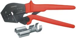 Knipex 97 52 05 SB Crimping pliers Uninsulated, open plug connectors, 4.8 + 6.3 mm 0.5...6.0 mm<sup>2</sup>