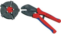 Knipex 97 33 02 Crimping pliers with magazine changer Plug connectors, cable lugs, wire end ferrules and butt connect...