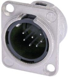Neutrik NC7MD-L-1 XLR Panel-mount male receptacle <prefix></prefix>7<suffix></suffix> Panel-mount male receptacle DL ...