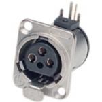 Neutrik NC3FD-H XLR Panel-mount female receptacle <prefix></prefix>3<suffix></suffix> Panel-mount female receptacle D...