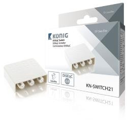 König KN-SWITCH21 DiSEqC-switch 2 ingangen 1 uitgang