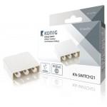 König KN-SWITCH21 DiSEqC-switch 2 ingangen 1 uitgang