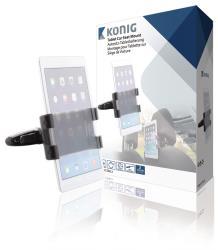 König KNM-FCTM12 Universele tablethouder hoofdsteun auto 360° 140 - 240 mm