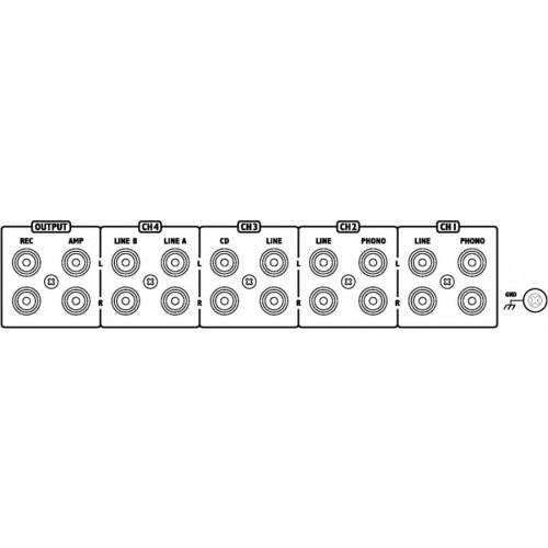 IMG Stage Line MPX-622/SW 6-kanaals rack mixer achterkant