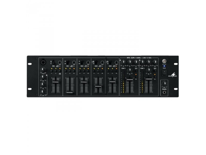 IMG Stage Line MPX-52PA 2-Zone rack mixer