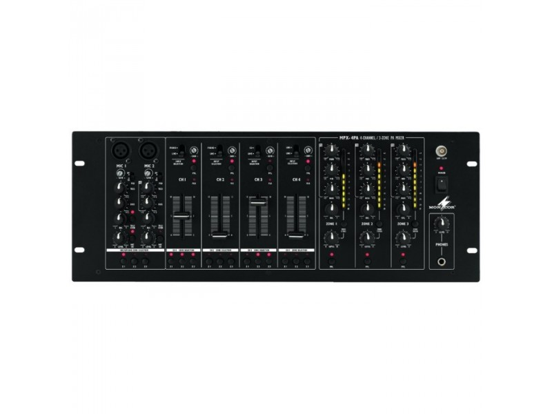 IMG Stage Line MPX-4PA 6-Kanaals 3-zone mixer