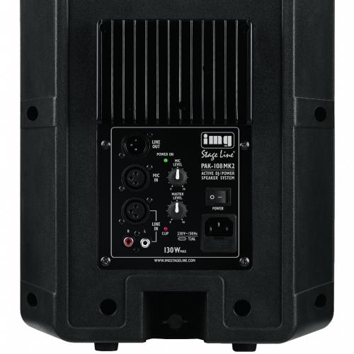 IMG Stage Line PAK-108 MKII actieve luidspreker achterkant