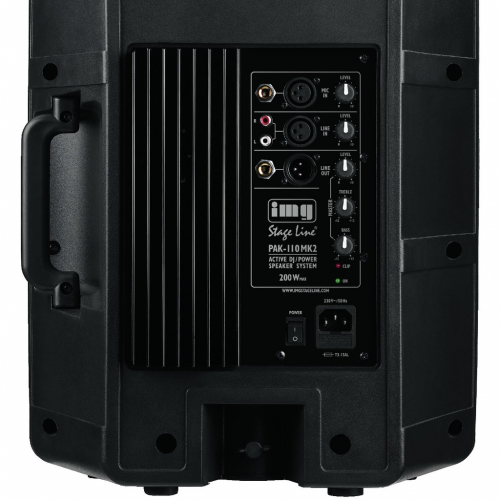 IMG Stage Line PAK-110 MKII actieve luidspreker achterkant