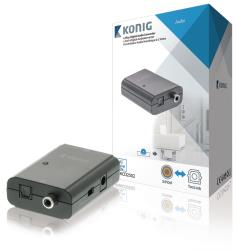 König KNACO2502 2-wegs digitale audio-converter TosLink female + S/PDIF female - TosLink female + S/PDIF female donke...