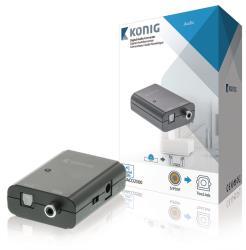 König KNACO2500 Digitale audio-converter S/PDIF female - TosLink female donkergrijs