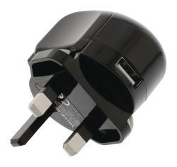 Valueline VLMP11955BUK USB-Lader 2.4 A UK-Stekker en SmartID Zwart
