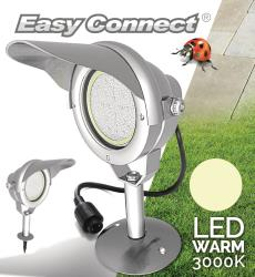 Easy Connect 65370 Easy Connect Projector + voet gepolijst aluminiem IP67 MR30 dimbaar LED 10 W 850lm warm wit 3000K