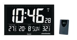 Balance 866498 LCD zendergestuurde wandklok