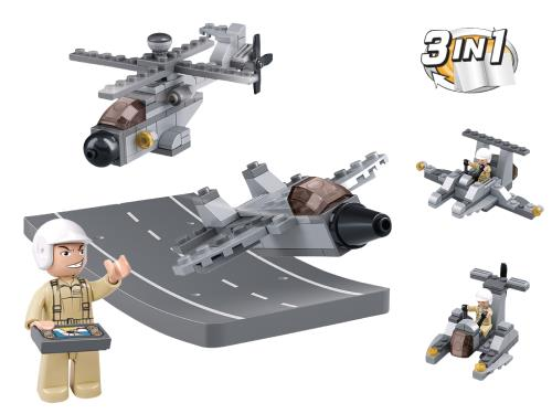 M38-B0537H Building Blocks Aircraft Carrier Series Drones 3-in-1