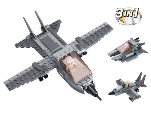 M38-B0537I Building Blocks Aircraft Carrier Series Fighter Jet 3-in-1