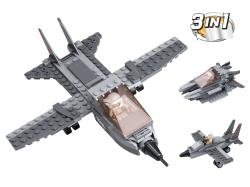 Sluban M38-B0537I Building Blocks Aircraft Carrier Series Fighter Jet 3-in-1