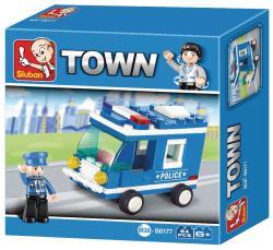 Sluban M38-B0177 Building Blocks Police Series Police Van