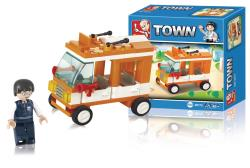 Sluban M38-B0179 Building Blocks Town Series Mini Bus