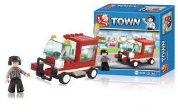 Sluban M38-B0180 Building Blocks Town Series Service Vehicle