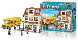 Sluban M38-B0333 Building Blocks Town Series Middle School