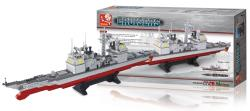 Sluban M38-B0389 Building Blocks Aircraft Carrier Series Cruiser