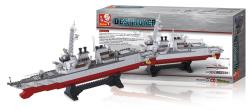 Sluban M38-B0390 Building Blocks Aircraft Carrier Series Destroyer