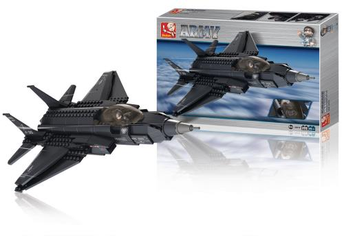M38-B0510 Building Blocks Army Series Fighter Jet