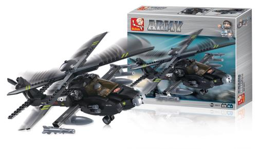 M38-B0511 Building Blocks Army Series Attack Helicopter