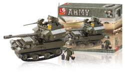 Sluban M38-B0282 Building Blocks Army Series Tank