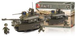 Sluban M38-B0287 Building Blocks Army Series Tank