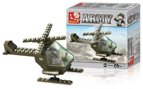 M38-B5700 Building Blocks Army Series Attack Helicopter