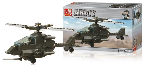 M38-B6200 Building Blocks Army Series Attack Helicopter