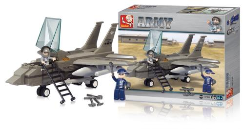 M38-B7200 Building Blocks Army Series Fighter Jet