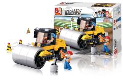 Sluban M38-B0539 Building Blocks Town Series Road Roller