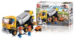 Sluban M38-B0550 Building Blocks Town Series Cement Mixer