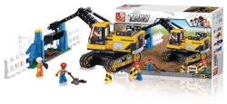 Sluban M38-B0551 Building Blocks Town Series Excavator