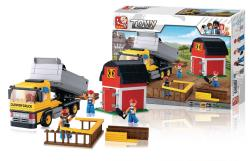 Sluban M38-B0552 Building Blocks Town Series Dump Truck
