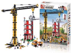 Sluban M38-B0555 Building Blocks Town Series Tower Crane