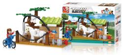Sluban M38-B0557 Building Blocks Town Series Horse Wash Area