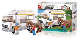 Sluban M38-B0559 Building Blocks Town Series Horse Truck