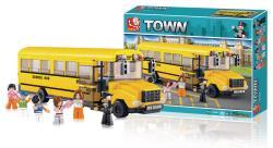 Sluban M38-B0506 Building Blocks Town Series Large School Bus