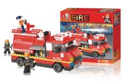 Sluban M38-B0220 Building Blocks Fire Series Large Fire Truck