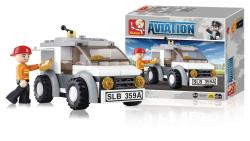 Sluban M38-B0359 Building Blocks Aviation Series Delivery Van