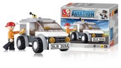 Sluban M38-B0359 Building Blocks Aviation Series Delivery Van