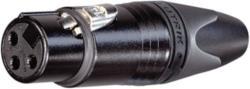 Neutrik  XLR cable socket 3 Cable socket/straight XX soldeer connecties Zwart
