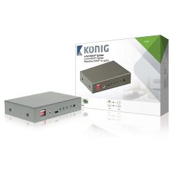König KNVSP3402 2-poorts HDMI splitter HDMI-ingang - 2x HDMI-uitgang donkergrijs
